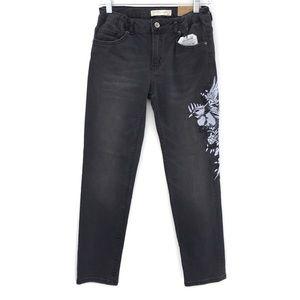Zara Girls Embroidered Bird Floral Jeans NEW 13/14